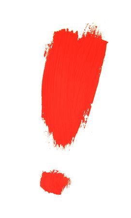 emphasize: exclamation mark painted with brush