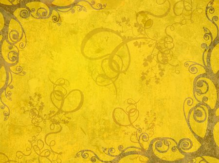 yellow artistic frame Stock Photo - 353850