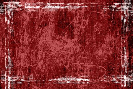 red grunge frame with space for text photo