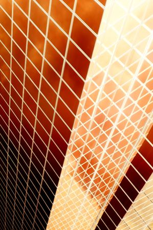 orange inferno: red abstract background