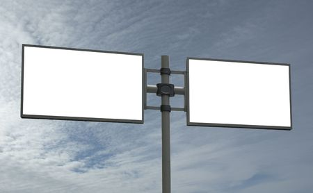 blank billboard, just add your message photo