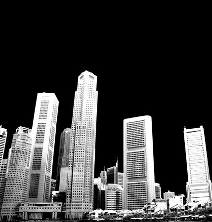 cityscape - black and white photo