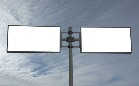 adboard: blank billboard, just add your message