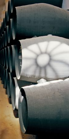 brew house: wine barrels at jerez bodega
