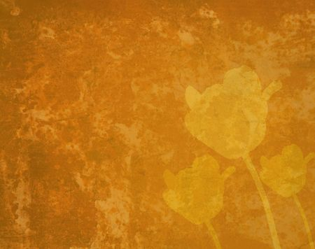 grunge floral background with space for text photo