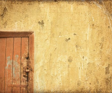 grunge door background with space for text photo