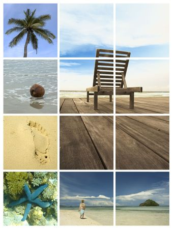 holiday dreams - vacation collage Stock Photo - 381881