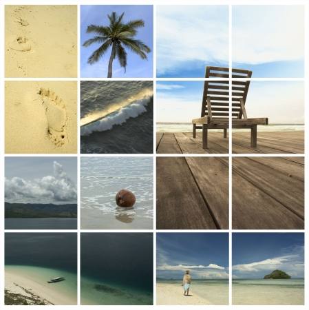 holiday dreams - vacation collage Stock Photo - 381841