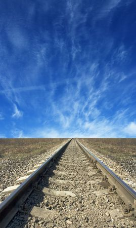 railroad tracks to nowhere photo