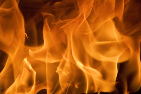 diabolical: flame background Stock Photo
