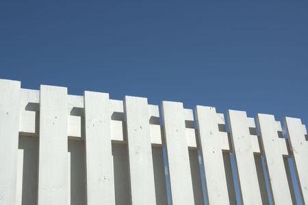 white fence against blue sky Stock Photo - 412903