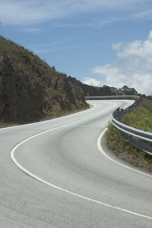 route sinueuse: Winding road
