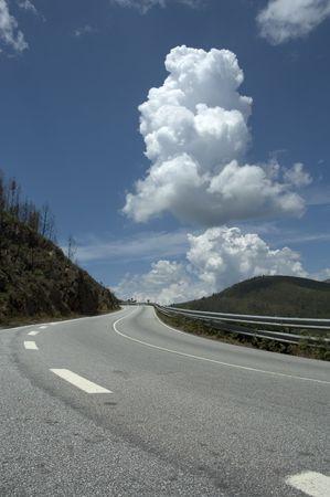 cornering: winding road
