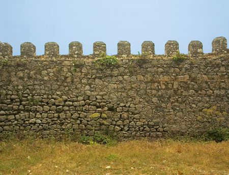 old castle wall photo