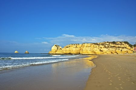 beach in algarve, portugal photo