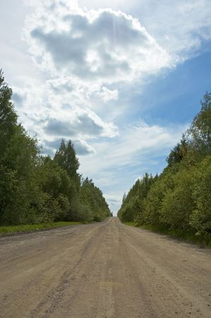 cornering: countryside road Stock Photo