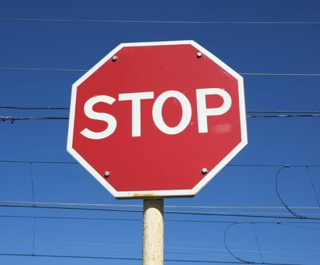 stop sign Stock Photo - 511834