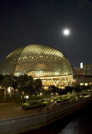 neonlight: singapore opera at night