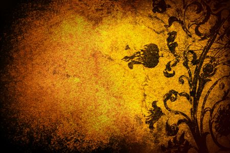 grunge floral background photo