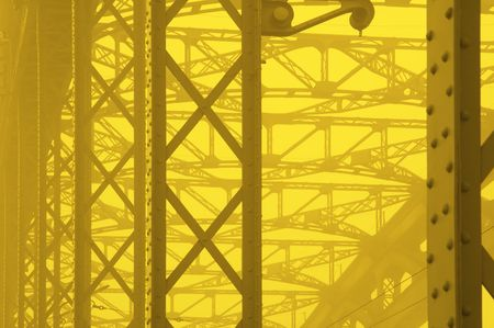 high tension: yellow industial background Stock Photo
