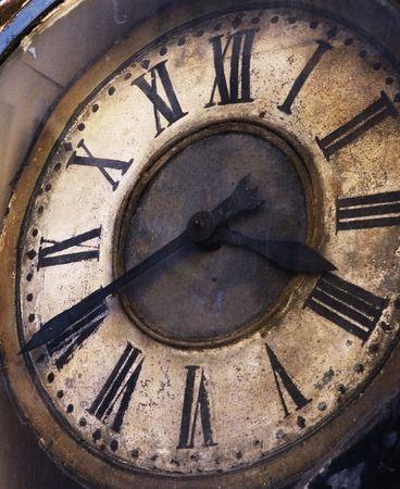 old grunge clock photo