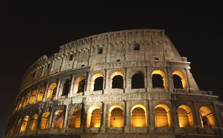 coliseum at night photo