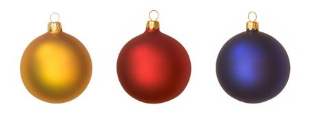 isolated christmas baubles Stock Photo - 611343