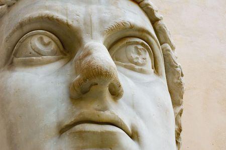 constantine: Head of emperor Constantine, Capitol, Rome