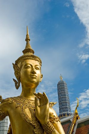 Welcome to Bangkok - Kinnari statue at Wat Phra Kaew Stock Photo - 735299
