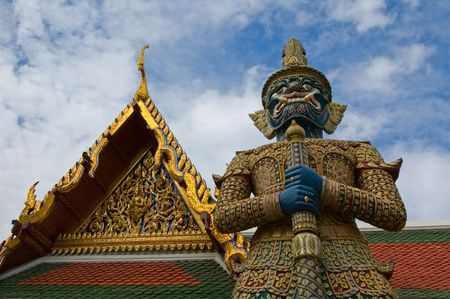 Mythical giant guardian (yak) at Wat Phra Kaew photo