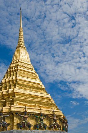 Golden stupa in Wat Phra Kaew, Bangkok, Thailand photo