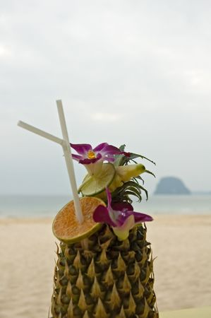 tropical cocktail - shallow focus Stock Photo - 748074