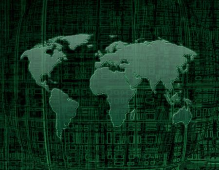 digital map of the world photo