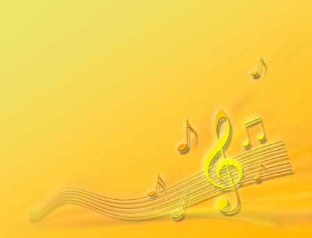 instrumental: orange tune Stock Photo