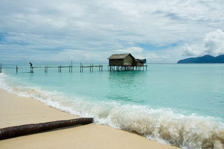 stilt house: stilt house in tropical waters