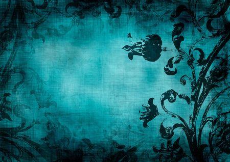 dark pastel green: floral grunge background