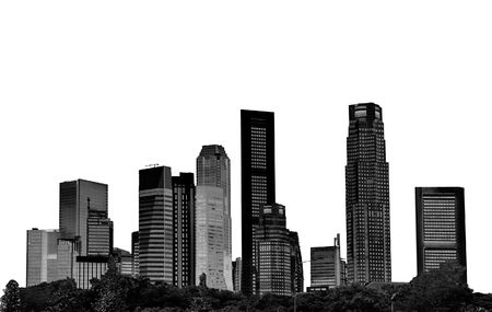 cityscape - silhouettes of skyscrapers Stock Photo - 809762