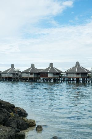 water village, borneo photo