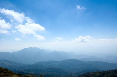 View from Doi Inthanon, the highest peak of Thailand photo