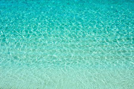 la textura del agua turquesa