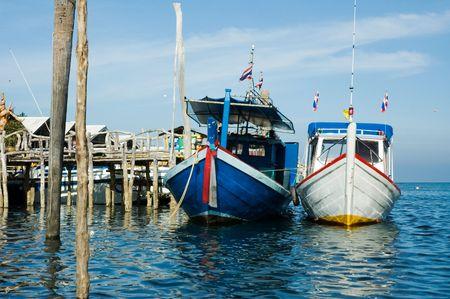 koh: fishing boats, koh lanta, krabi, yhailand