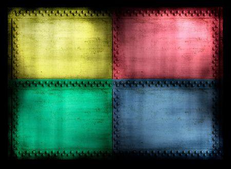 riveted: 4 color riveted grunge background