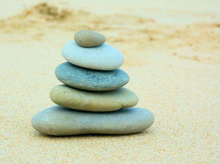 eastern philosophy: Pebble stack
