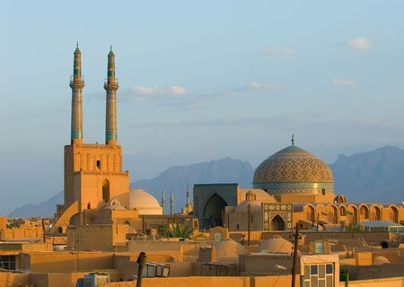 Sunset over ancient city of Yazd, Iran Stock Photo - 950582