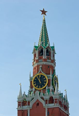 Spasskaya tower of the Kremlin, Moscow, Russia photo