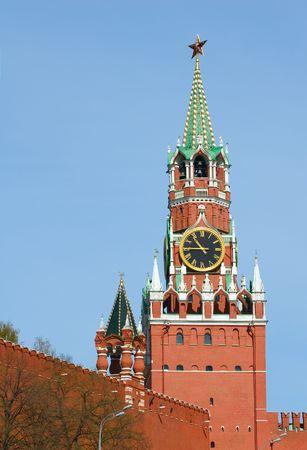 spasskaya: Spasskaya tower of the Kremlin Stock Photo