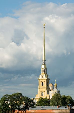 Peter and Paul fortress, the symbol of Saint Petersburg, Russia photo
