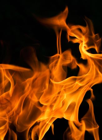 flame - perfect background of fire Stock Photo - 1357612