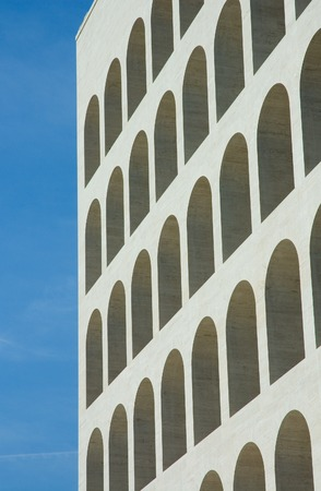 Arches of Square coliseum in Eur, Rome photo
