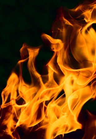 diabolical: flame - perfect background of fire Stock Photo